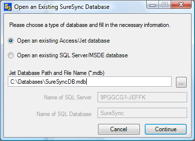 Opening an Existing Access Database